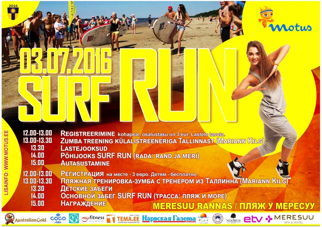 Surf RUN plakat